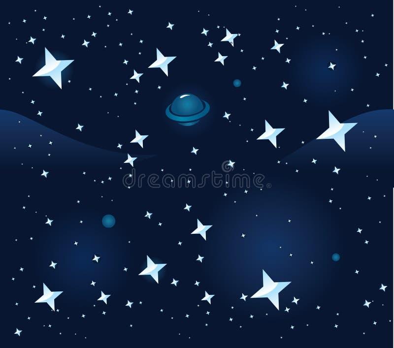 Download Fundo sem emenda do espaço ilustração do vetor. Ilustração de planeta - 12801622