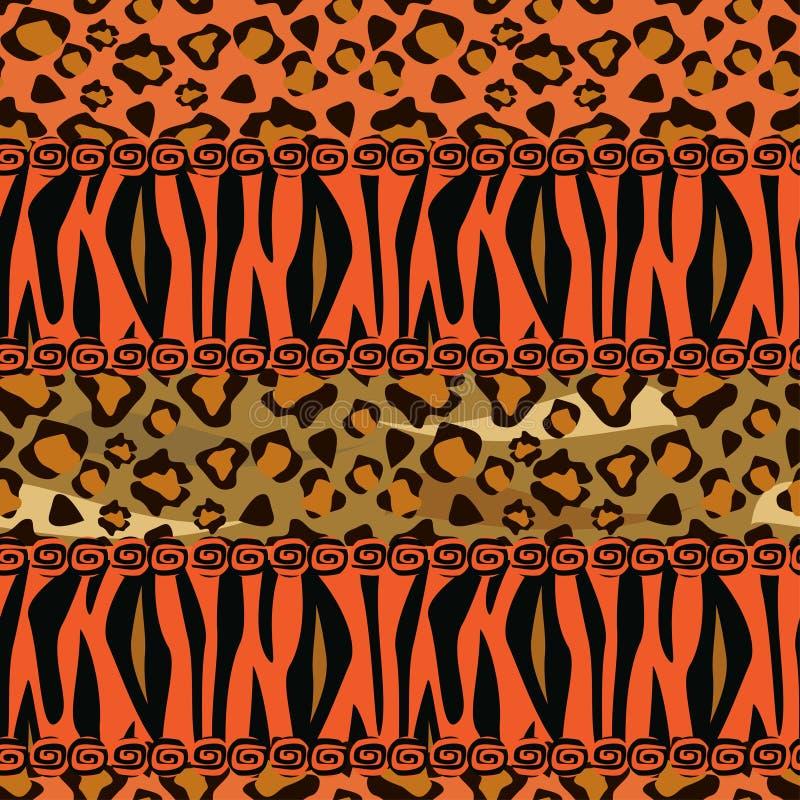 Fundo sem emenda do estilo africano ilustração royalty free