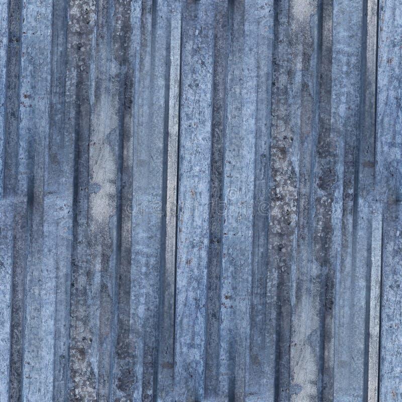 Fundo sem emenda do ferro azul oxidado da placa do teste padrão da textura do metal foto de stock