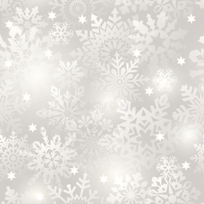Fundo sem emenda do floco de neve. ilustração royalty free