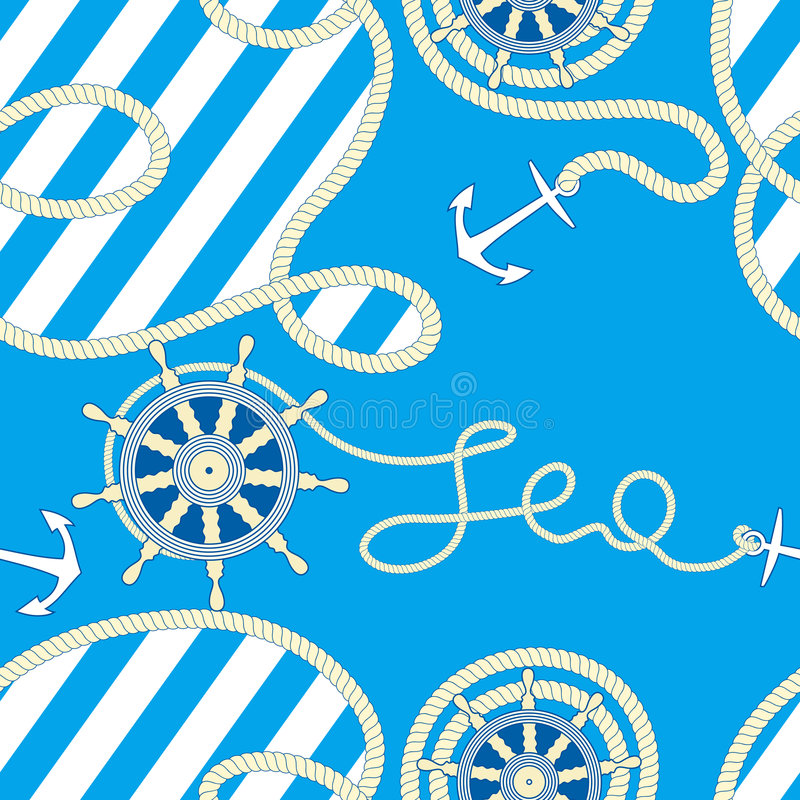 Fundo sem emenda do mar. ilustração do vetor