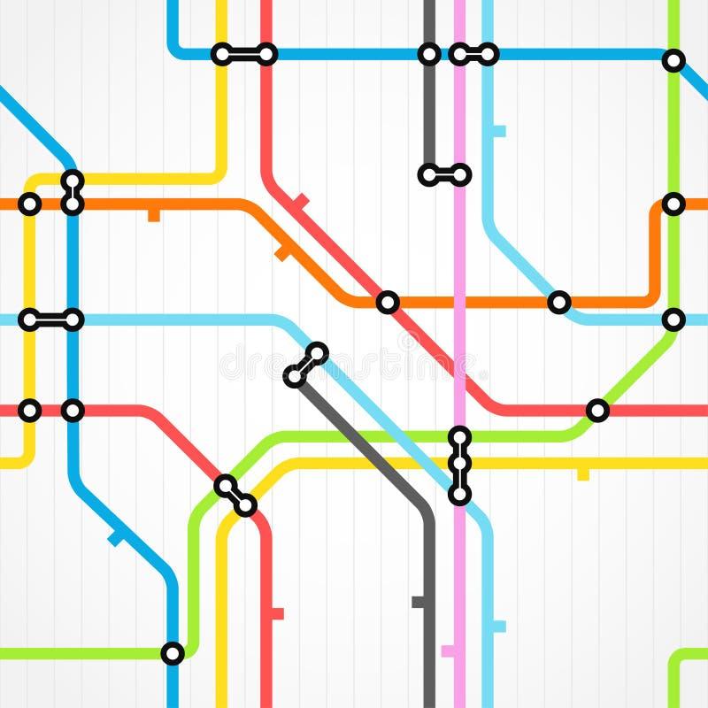Fundo sem emenda do metro ilustração do vetor
