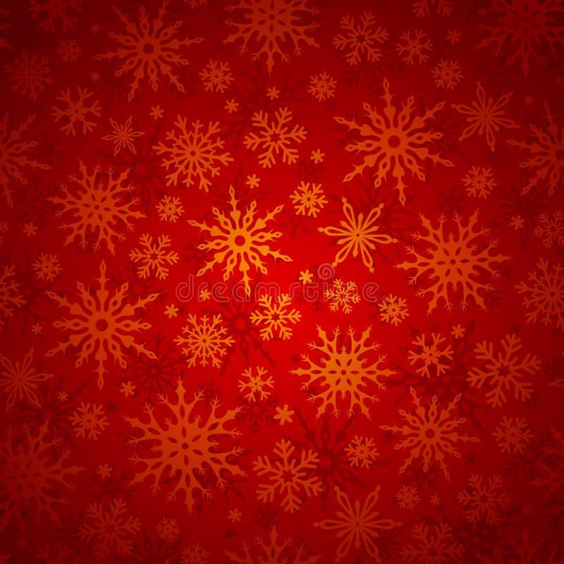 Fundo sem emenda do Natal com flocos de neve Ilustração do vetor ilustração do vetor