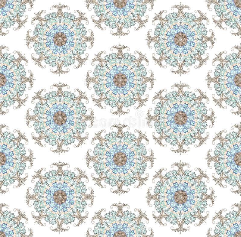 Fundo sem emenda do ornamento floral redondo ilustração royalty free