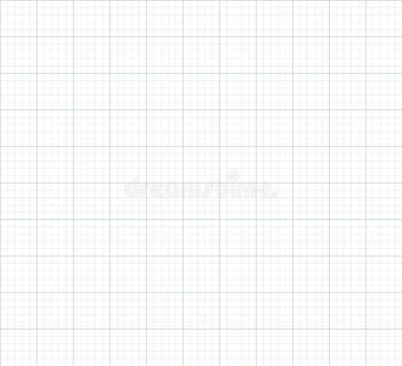 Fundo sem emenda do papel de gráfico do vetor ilustração do vetor