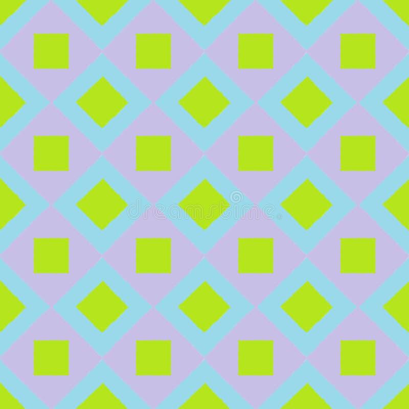 Fundo sem emenda do papel de parede com lotes de quadrados coloridos fotos de stock