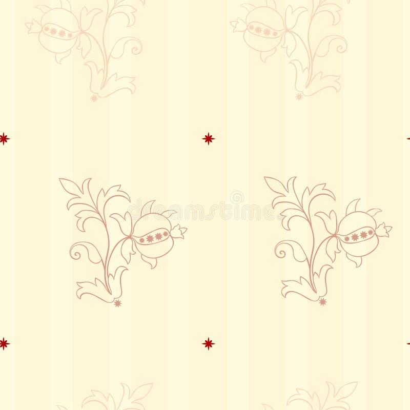 Fundo sem emenda do papel de parede do estilo do Victorian ilustração royalty free