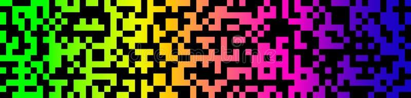 Fundo sem emenda do pixel moderno para a bandeira da Web Ilustração lisa do vetor isolada ilustração royalty free