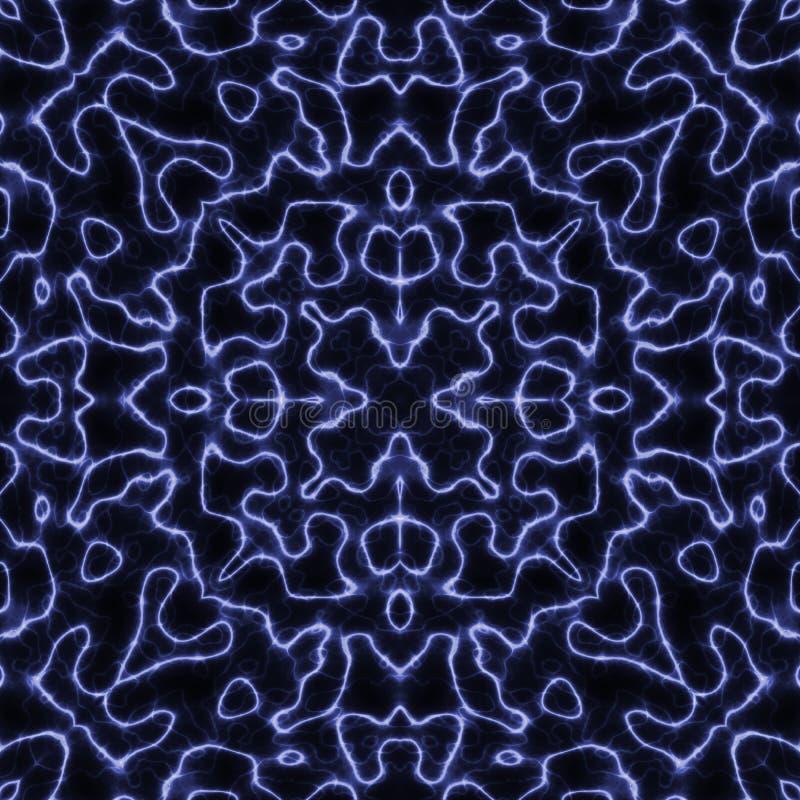 Fundo sem emenda do plasma bonde azul abstrato ilustração do vetor