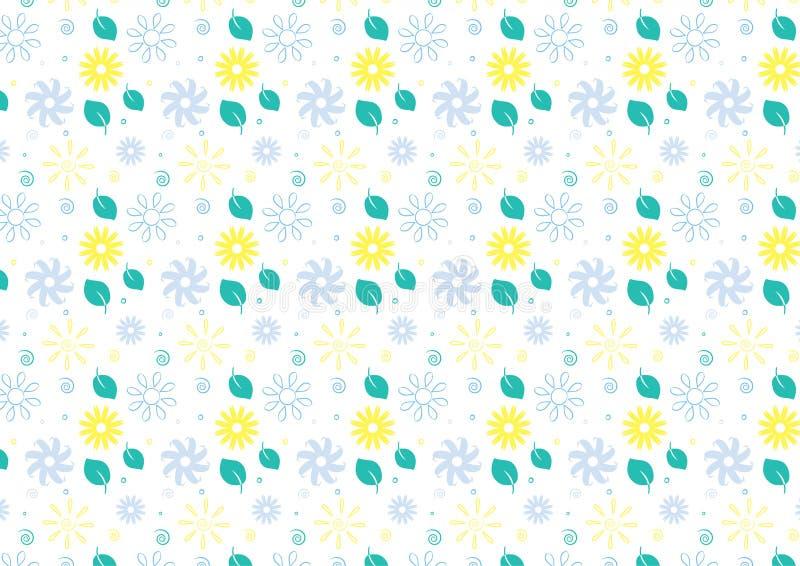 Fundo sem emenda do tema do verão no azul e no verde ilustração royalty free