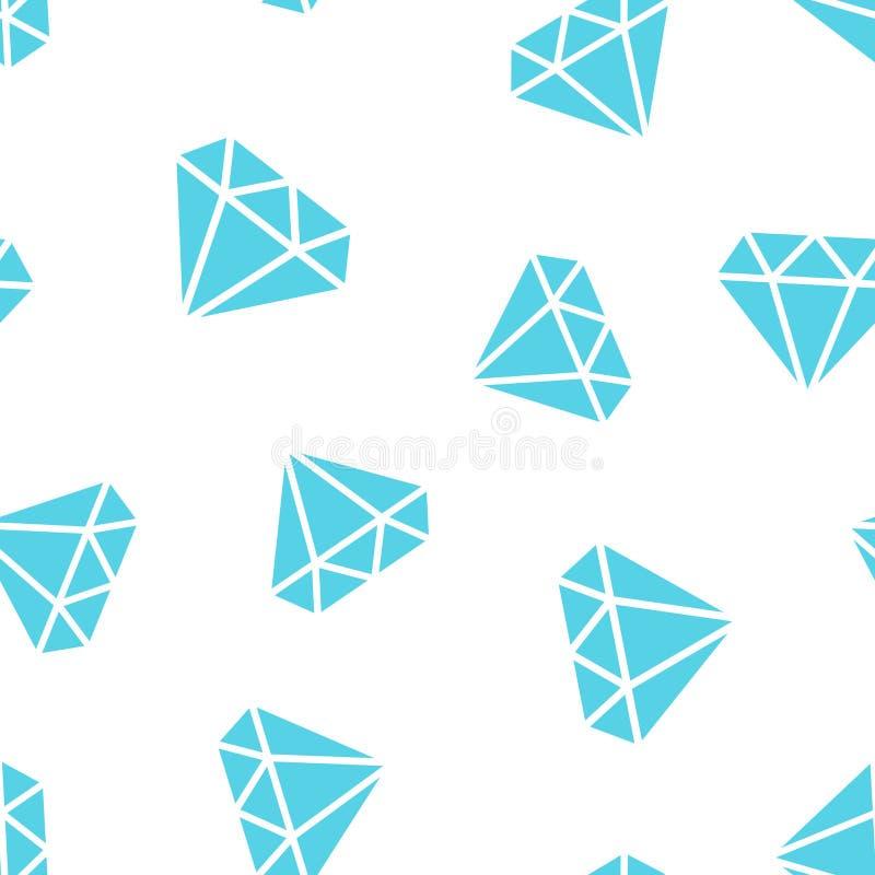 Fundo sem emenda do teste padrão do ícone da gema da joia do diamante Engodo do negócio ilustração do vetor