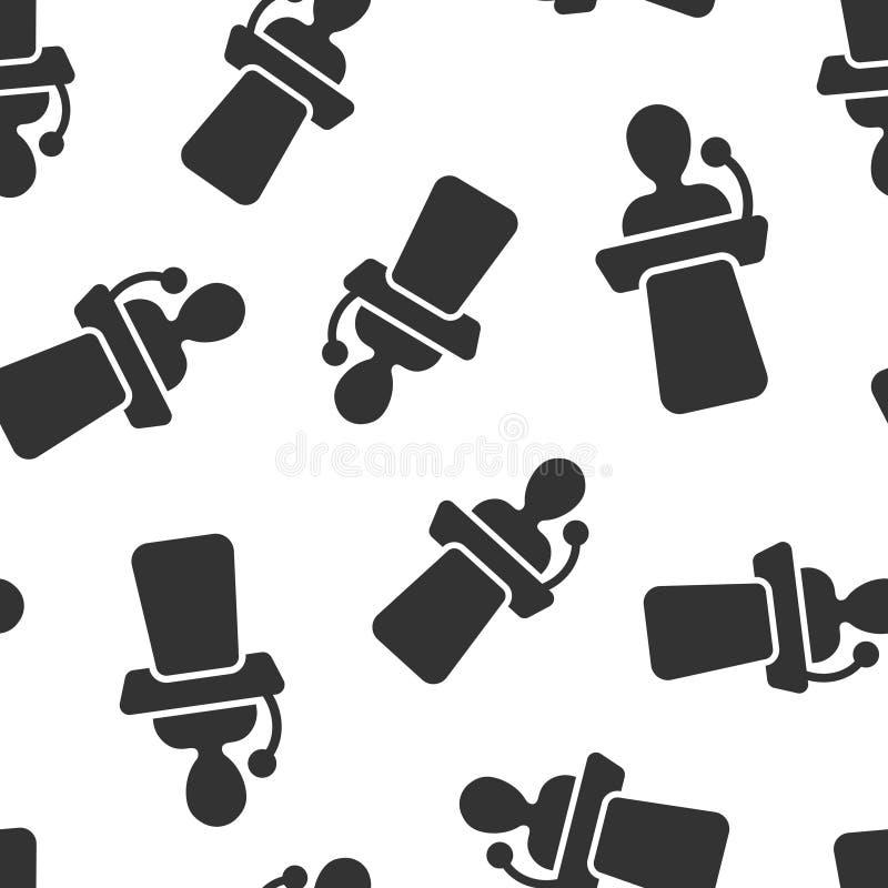 Fundo sem emenda do teste padrão do ícone público do discurso Ilustra??o do vetor da confer?ncia do p?dio no fundo isolado branco ilustração royalty free