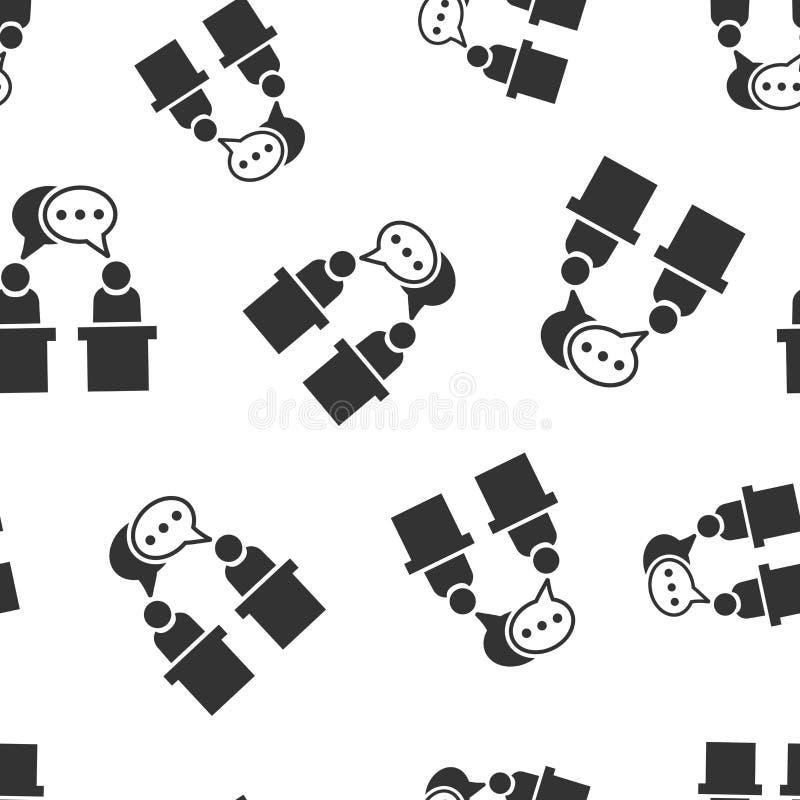 Fundo sem emenda do teste padrão do ícone político do debate Ilustração presidencial do vetor dos debates Teste padrão do símbolo ilustração royalty free