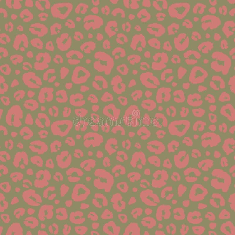 Fundo sem emenda do teste padrão da cópia da pele do leopardo Textura animal da camuflagem do sumário do ponto da pele ilustração stock