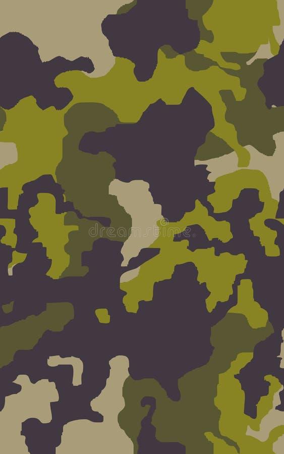 Fundo sem emenda do teste padrão da camuflagem Cópia clássica da repetição do camo do mascaramento do estilo da roupa ilustração royalty free