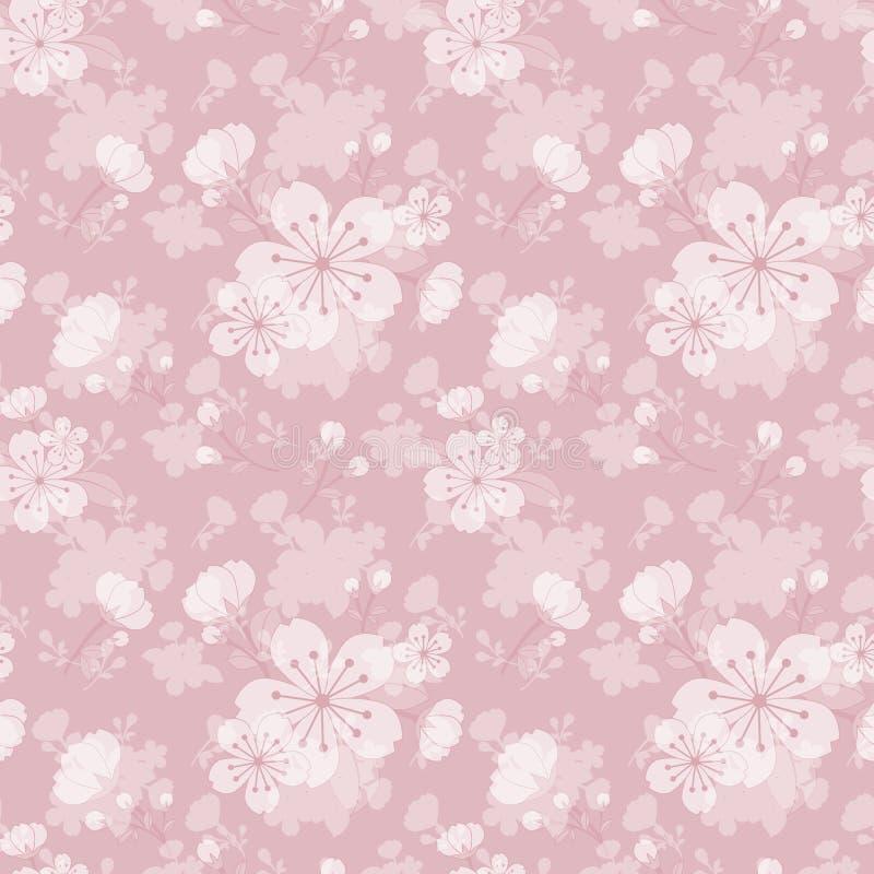 Fundo sem emenda do teste padrão da flor ilustração stock