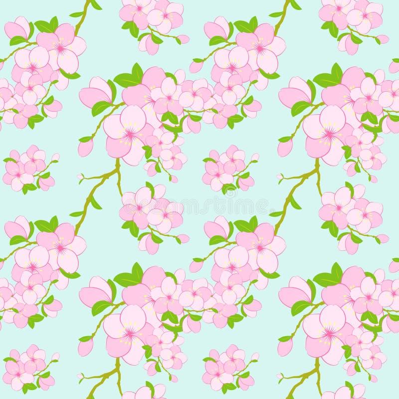 Fundo sem emenda do teste padrão da flor colorida ilustração stock