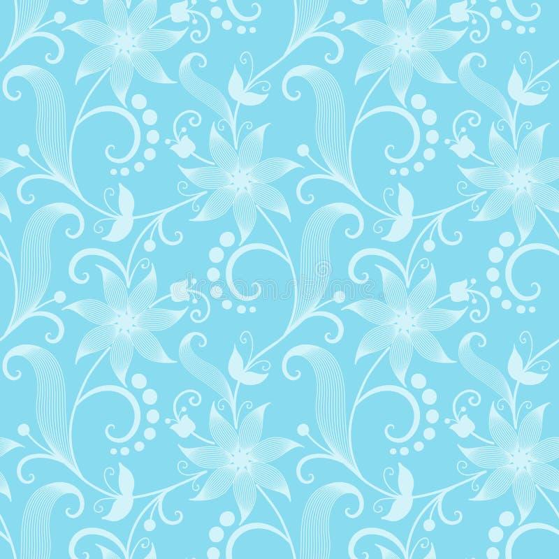 Fundo sem emenda do teste padrão da flor do vetor Textura elegante para fundos Floral antiquado luxuoso clássico ilustração do vetor