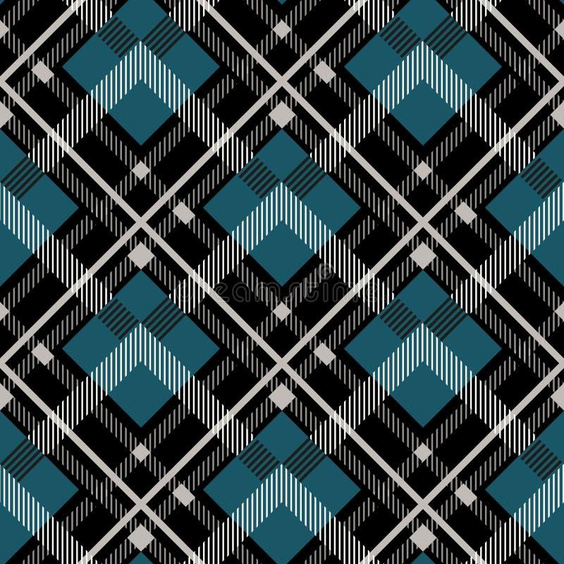 Fundo sem emenda do teste padrão da tartã Manta vermelha, preta, azul, bege e branca, testes padrões da camisa da flanela da tart ilustração royalty free