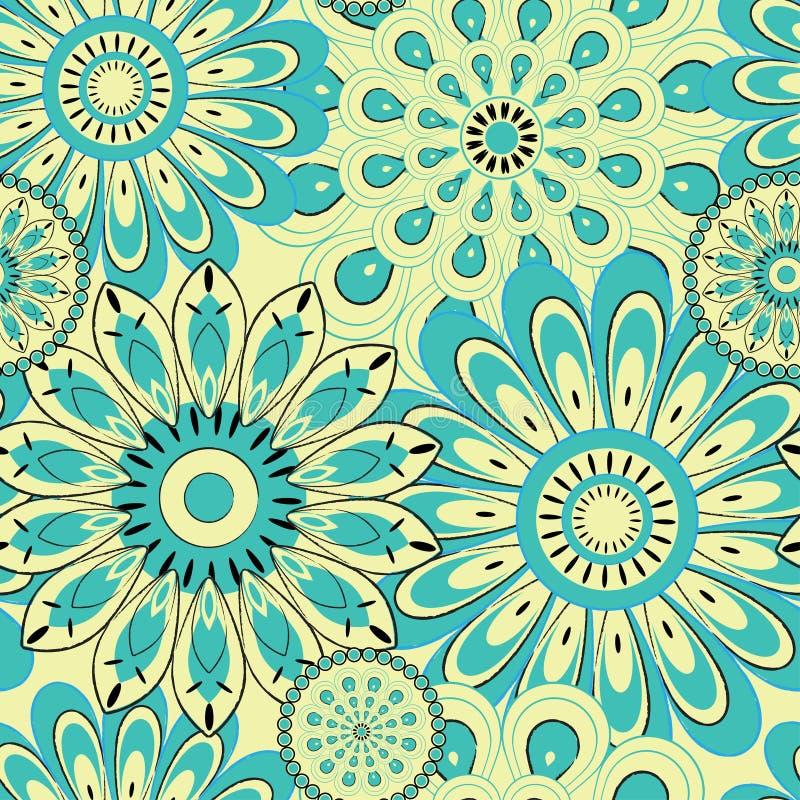 Fundo sem emenda do teste padrão de flor ilustração royalty free