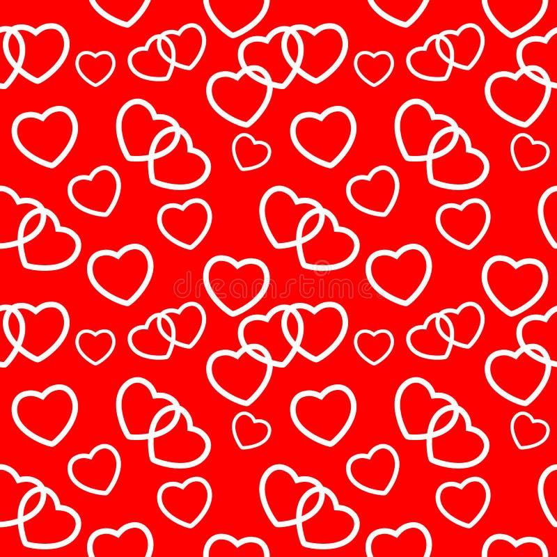 Fundo sem emenda do teste padrão do amor do coração Vetor ilustração stock