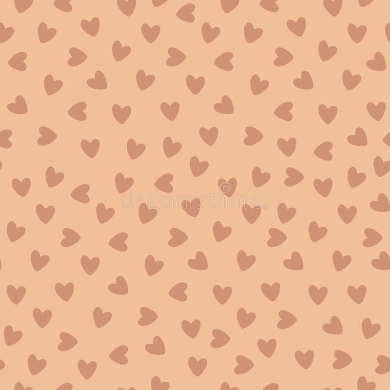 Fundo sem emenda do teste padrão do coração ilustração royalty free