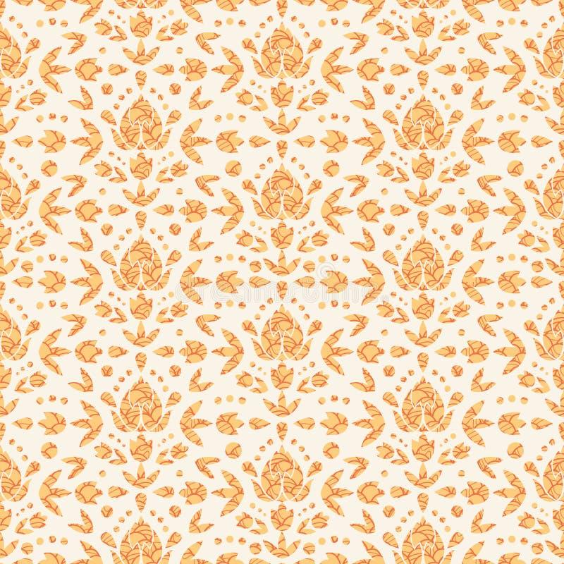 Fundo Dourado Do Vintage Floral Vetor Ilustra 231 227 O Do Vetor