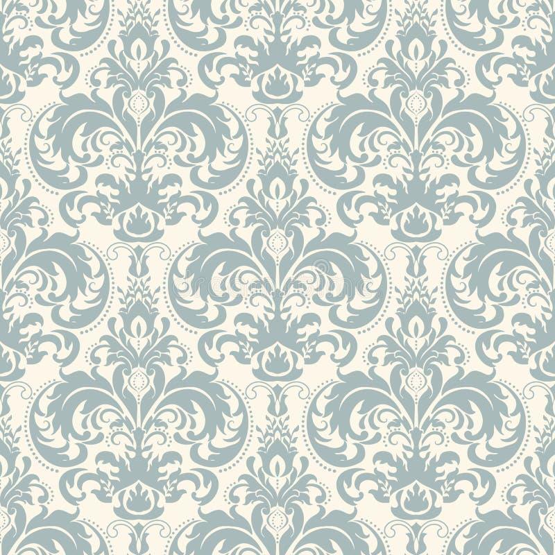 Fundo sem emenda do teste padrão do damasco Ornamento antiquado luxuoso clássico do damasco, textura sem emenda do victorian real ilustração royalty free