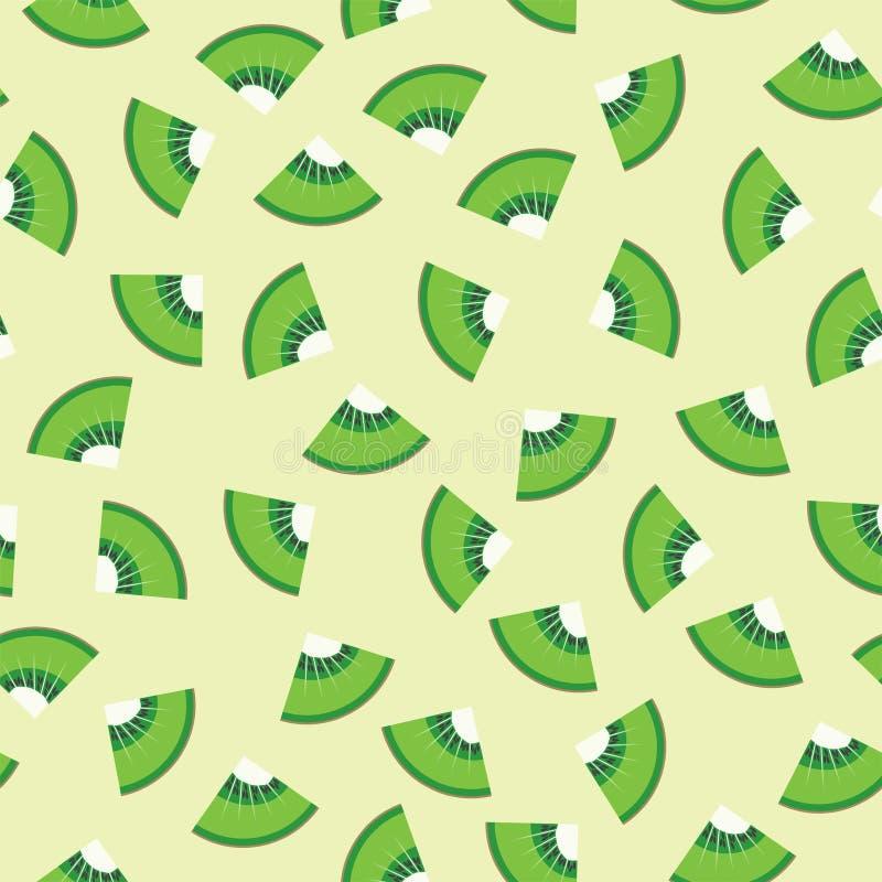 Fundo sem emenda do teste padrão do gráfico do fruto de quivi ilustração royalty free