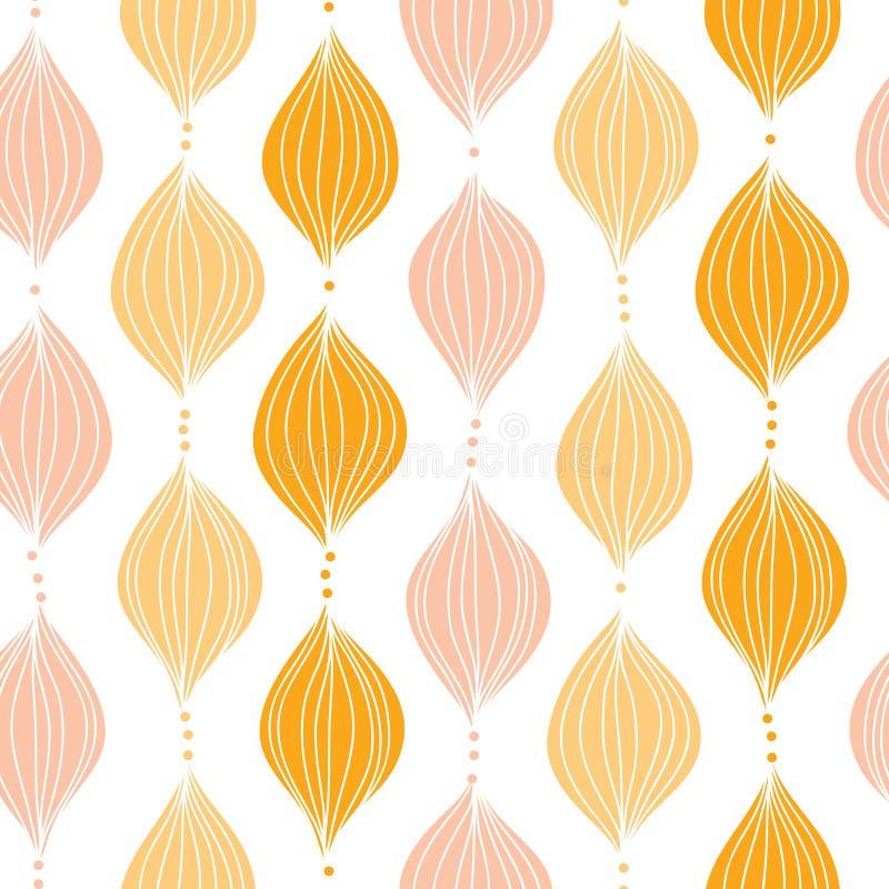 Fundo sem emenda do teste padrão do ogee dourado abstrato ilustração stock