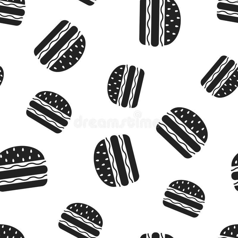 Fundo sem emenda do teste padrão do fast food do hamburguer Conceito v do negócio ilustração royalty free