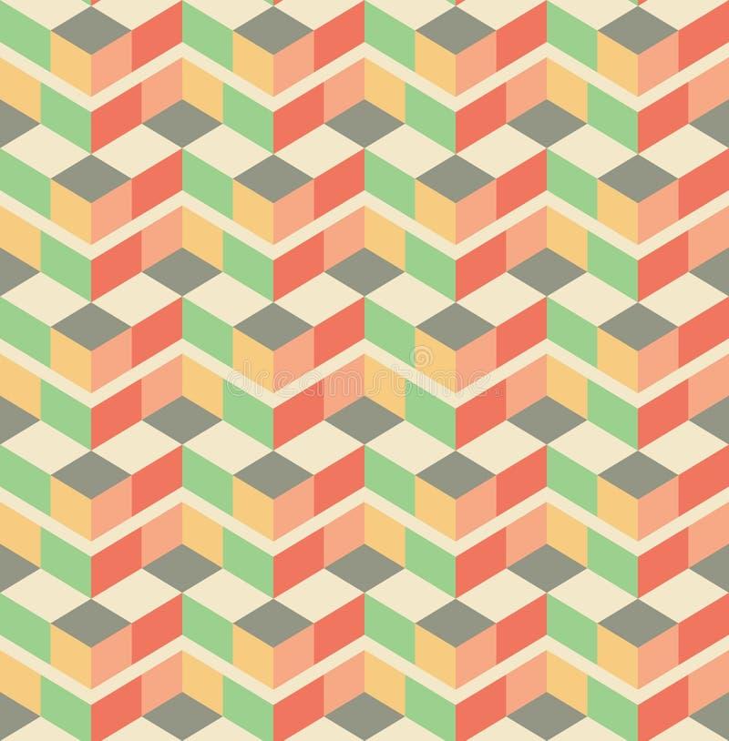 Fundo sem emenda do teste padrão geométrico abstrato do papel de parede do vintage ilustração royalty free
