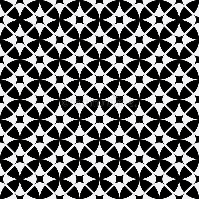 Fundo sem emenda do teste padrão geométrico abstrato do papel de parede do vintage ilustração do vetor