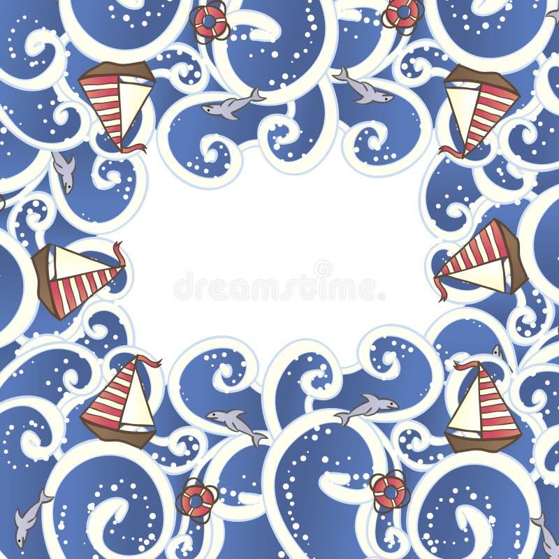 Download Ondas e iate ilustração do vetor. Ilustração de marinha - 29827437