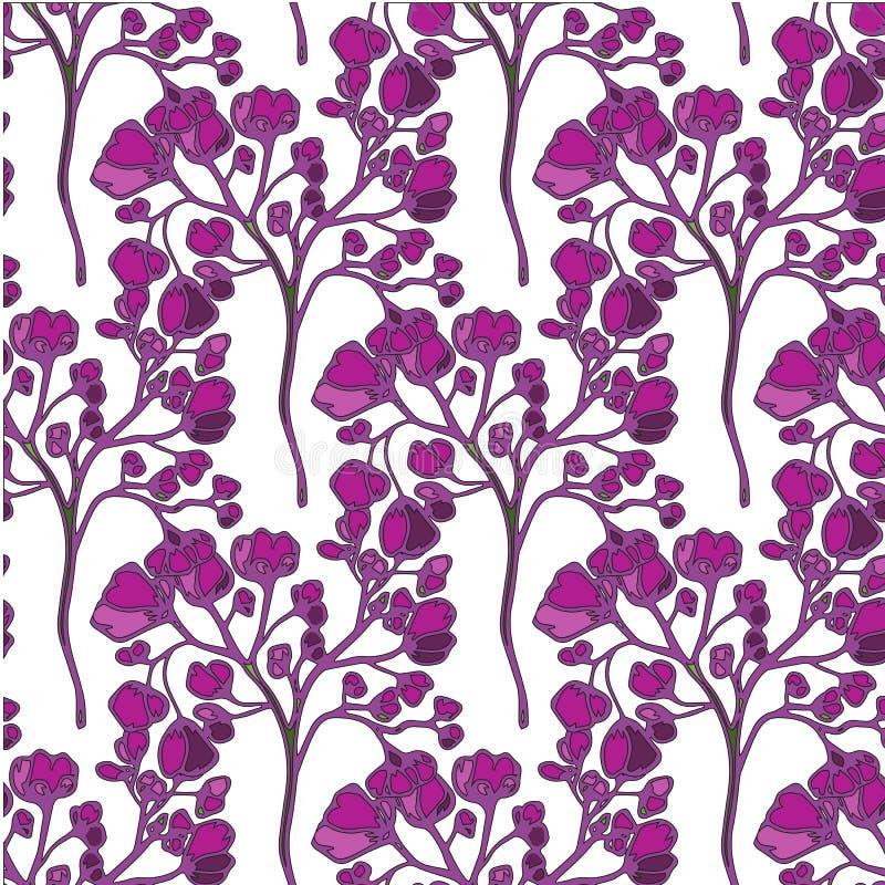 Fundo sem emenda do vetor floral para a matéria têxtil ou as capas do livro, fabricação, papéis de parede, cópia, papel de embrul ilustração royalty free