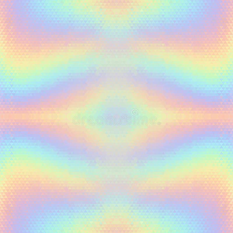Fundo sem emenda do vetor holográfico abstrato ilustração stock