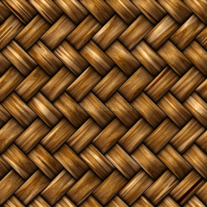 Fundo sem emenda do weave do rattan ilustração do vetor