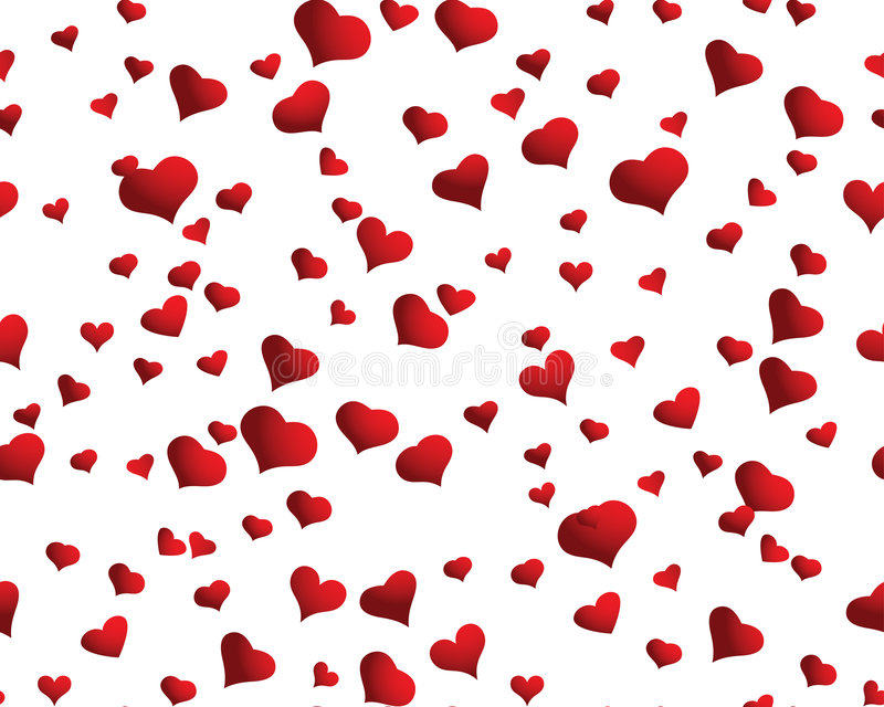 Fundo sem emenda dos corações ilustração stock