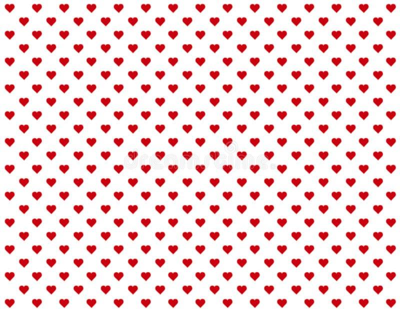 fundo sem emenda dos corações vermelhos do bebê de +EPS ilustração stock