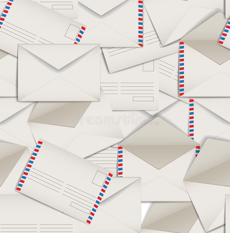 Fundo sem emenda dos envelopes ilustração stock