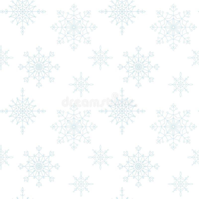 Fundo sem emenda dos flocos de neve da decoração. ilustração stock