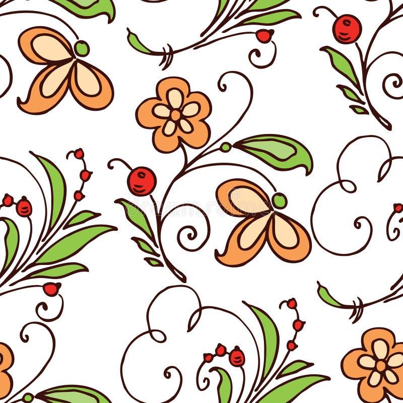 Fundo sem emenda dos ramos decorativos ilustração stock