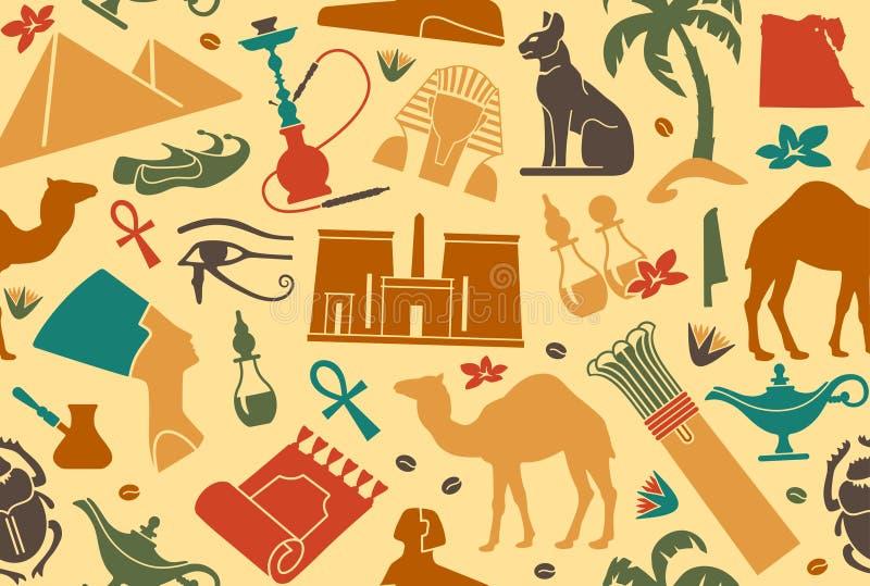 Fundo sem emenda egípcio ilustração royalty free