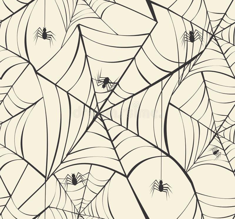 Fundo sem emenda feliz EPS10 fi do teste padrão das Web de aranha de Dia das Bruxas ilustração royalty free