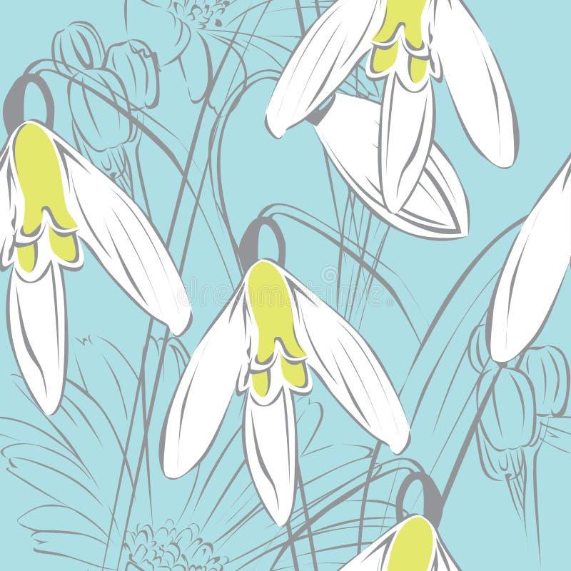 Fundo sem emenda floral ilustração stock
