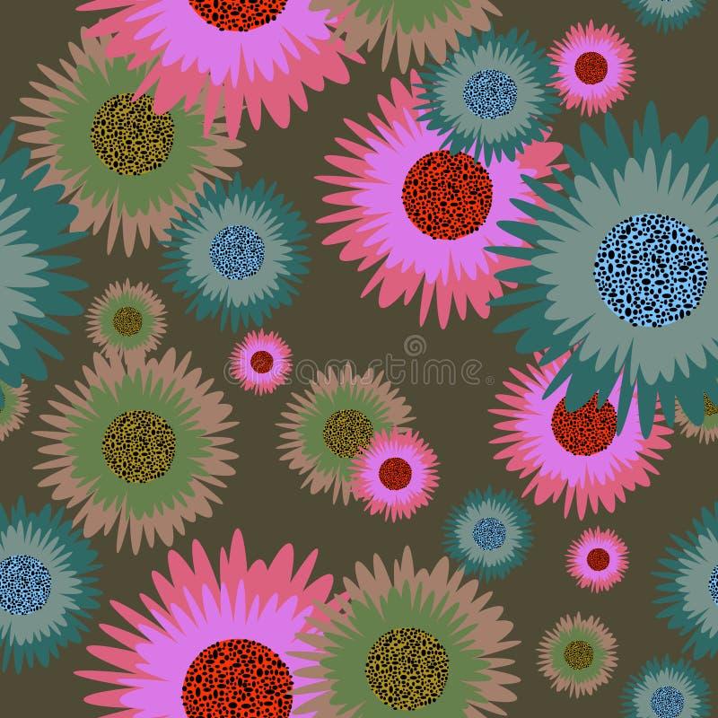 Fundo sem emenda floral ilustração royalty free