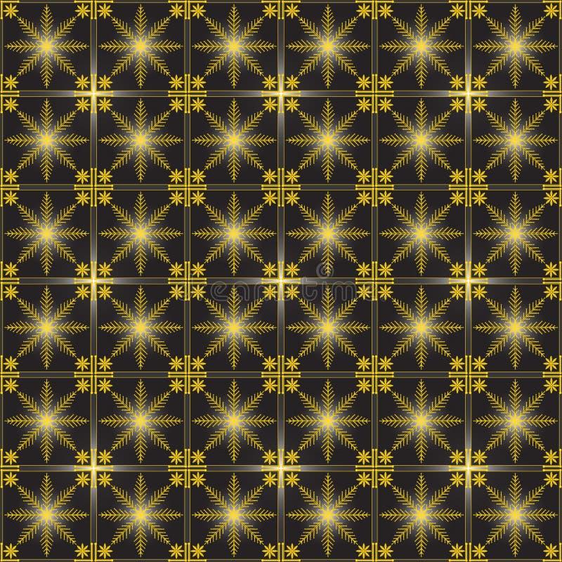 Fundo sem emenda floral do teste padrão do ouro do vetor ilustração do vetor