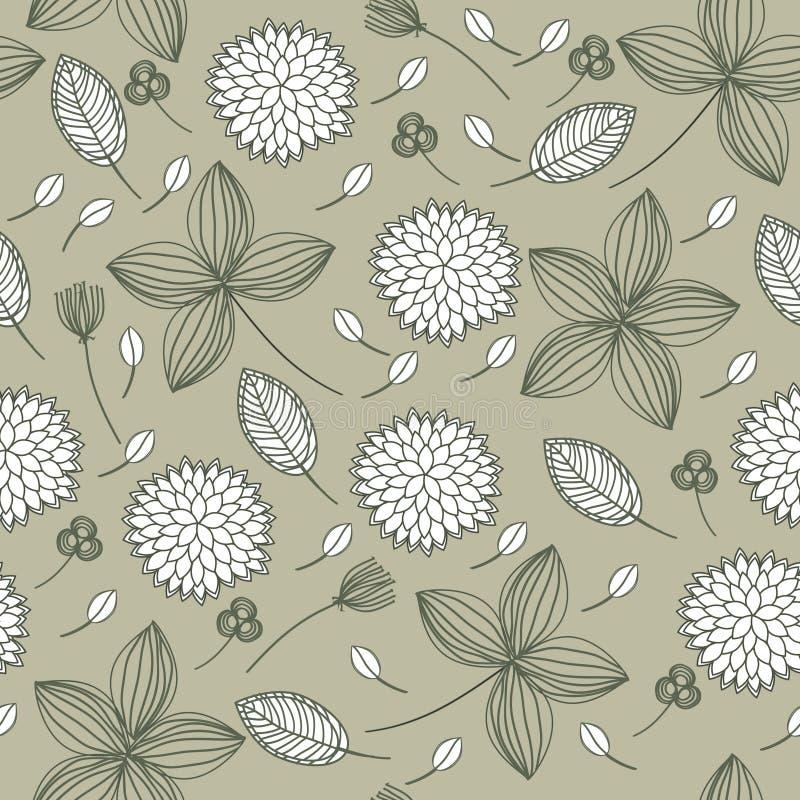 Fundo sem emenda floral elegante ilustração do vetor