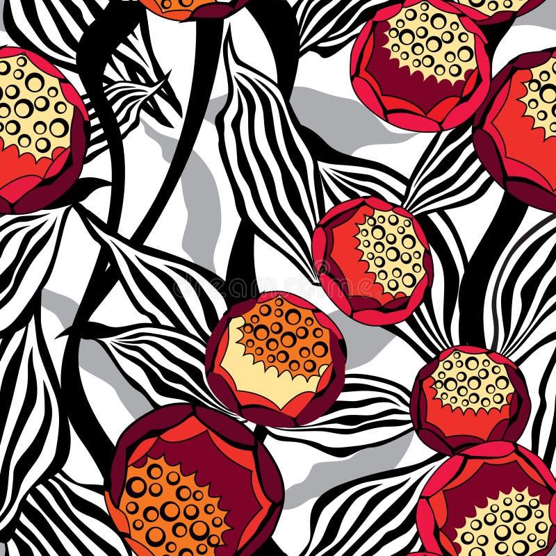 Fundo sem emenda floral. Teste padrão abstrato do flourish ilustração royalty free
