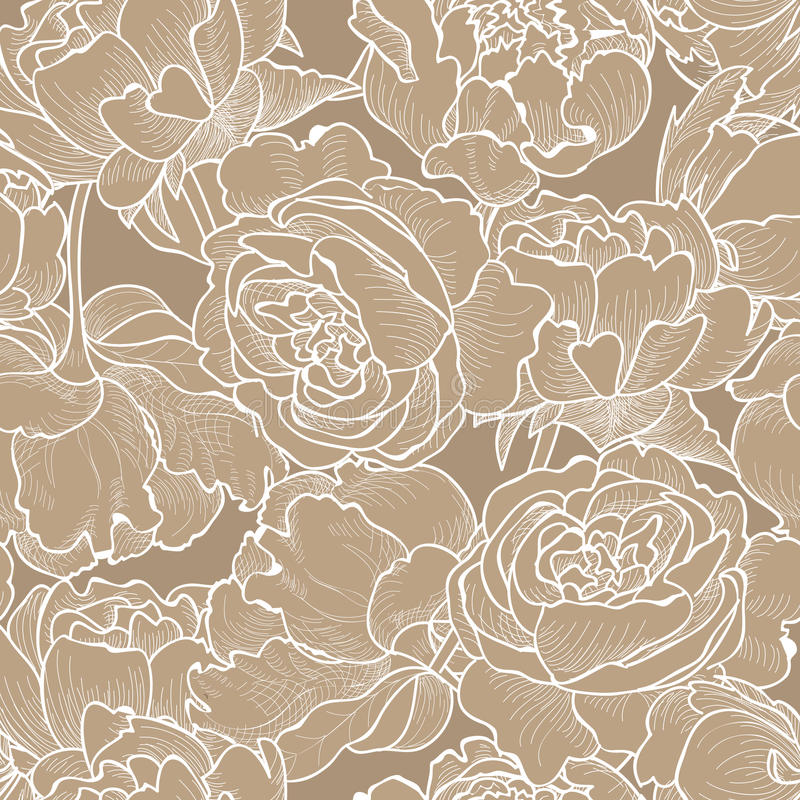 Fundo sem emenda floral Teste padrão de flor decorativo ilustração stock